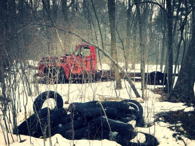 Abandoned-Truck-In The-Woods-2