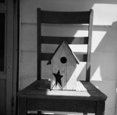 Birdhouse On An Old Chair