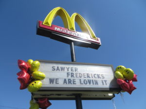 Sawyer Fredericks McDonald's