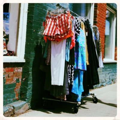 clothing-rack-on-the-street