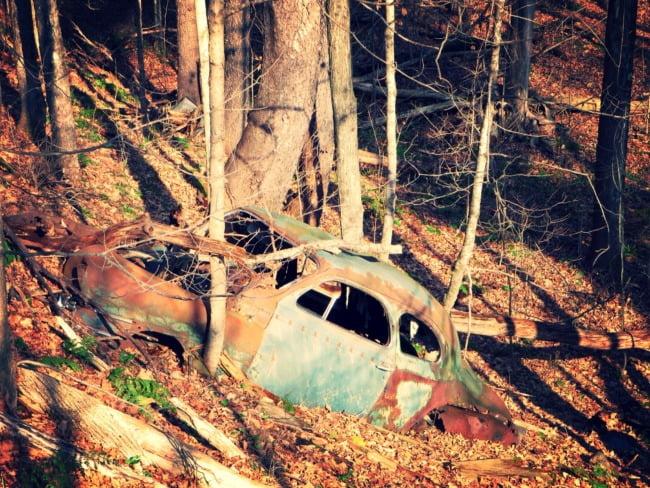 Vintage Car Crash