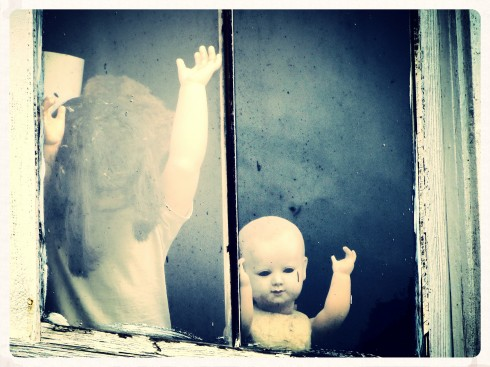 Creepy Dolls In The Window